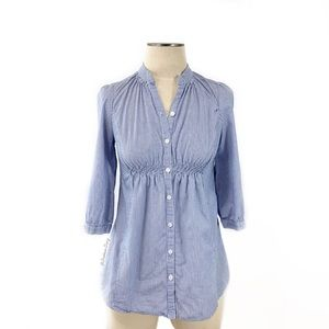 Anthropologie- Odille Striped Button Down Shirt 0
